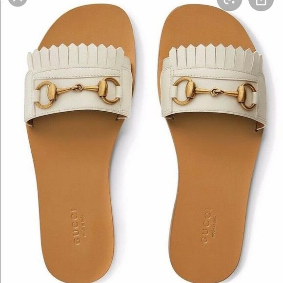 gucci gold flat sandals - 50% OFF